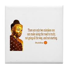 Buddha Buddhism Quotes Tile Coaster