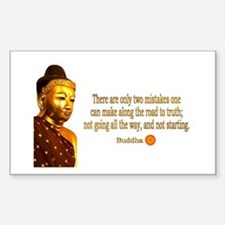 Buddha Buddhism Quotes Rectangle Decal