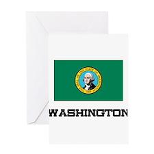 Washington Flag Greeting Card