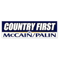 McCain Palin Country First Bumper Bumper Sticker