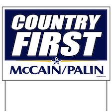 McCain Palin Country First Yard Sign