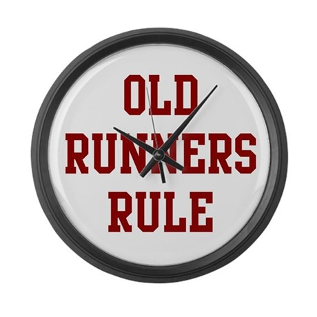 Old Runners Rule Large Wall Clock