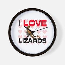 I Love Lizards Wall Clock