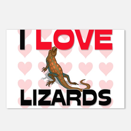 I Love Lizards Postcards (Package of 8)