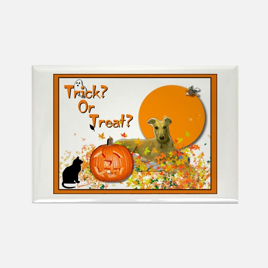 Halloween Greyhound Rectangle Magnet