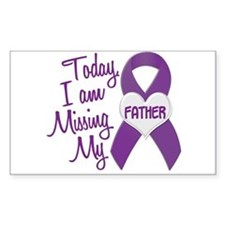 Missing My Father 1 PURPLE Rectangle Decal