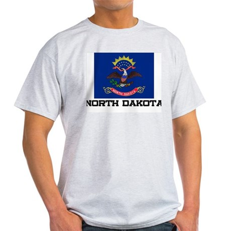 North Dakota Flag Light T-Shirt