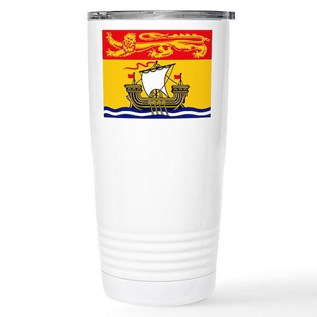New Brunswick Flag Stainless Steel Travel Mug