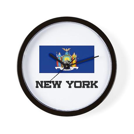 New York Flag Wall Clock
