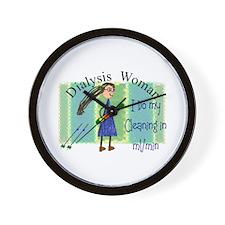 Unique Dialysis patient Wall Clock