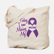 Missing My Brother 1 PURPLE Tote Bag