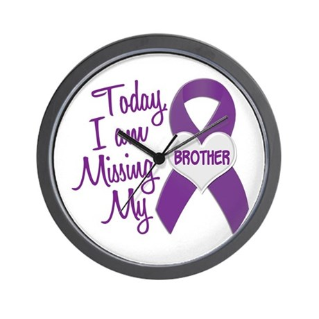 Missing My Brother 1 PURPLE Wall Clock
