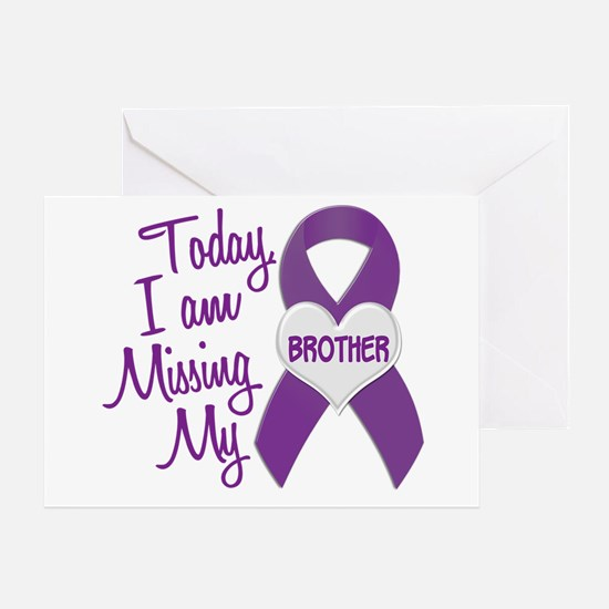 Missing My Brother 1 PURPLE Greeting Card