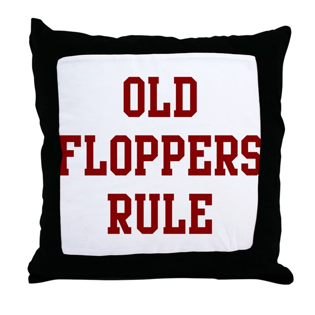 Throw Away Old Pillows : Old Floppers Rule Throw Pillow by Masterstrackcom