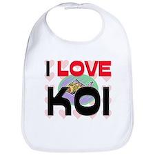 I Love Koi Bib