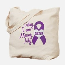 Missing My Sister 1 PURPLE Tote Bag