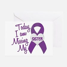 Missing My Sister 1 PURPLE Greeting Card