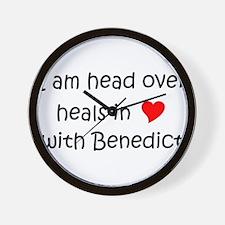 Unique I heart benedict Wall Clock