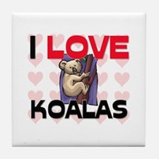 I Love Koalas Tile Coaster