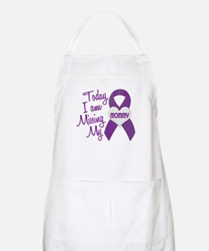 Missing My Mommy 1 PURPLE BBQ Apron