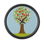 Alfresco Christmas Tree Large Wall Clock