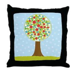 Alfresco Christmas Tree Throw Pillow