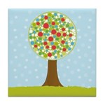 Alfresco Christmas Tree Tile Drink Coaster