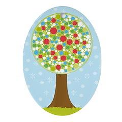 Alfresco Christmas Tree Oval Ornament