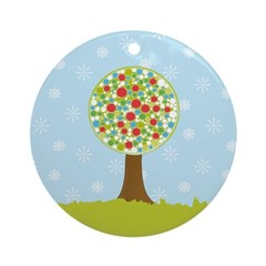 Alfresco Christmas Tree Ornament (Round)