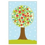 Alfresco Christmas Tree Large Poster