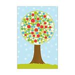 Alfresco Christmas Tree Mini Poster Print