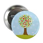 """Alfresco Christmas Tree 2.25"""" Button"""
