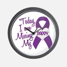 Missing My Daddy 1 PURPLE Wall Clock