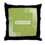 Savvy Green Holidays Throw Pillow