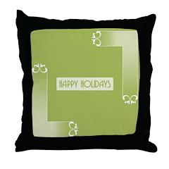 Savvy Green Holidays Throw Pillow
