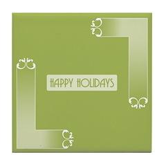 Savvy Green Holidays Tile Drink Coaster