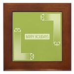 Savvy Green Holidays Framed Tile