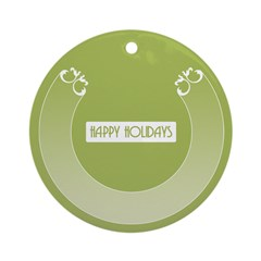 Savvy Green Holidays Ornament (Round)