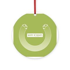 Savvy Green Holidays Ornament (Round)
