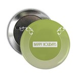 "Savvy Green Holidays 2.25"" Button (10 pack)"