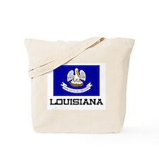 Louisiana Flag Tote Bag