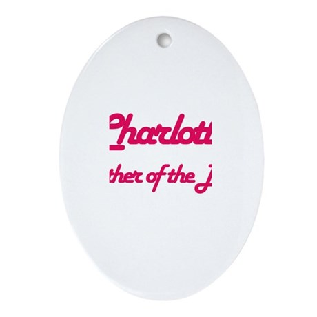 Charlotte - Mother of Bride Oval Ornament