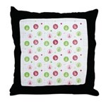 Yuletide Polka Trees Throw Pillow