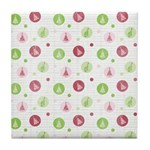 Yuletide Polka Trees Tile Drink Coaster