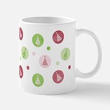 Yuletide Polka Trees Ceramic Coffee Mug