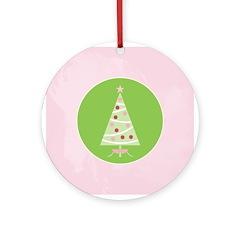 Yuletide Polka Trees Ornament (Round)