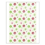 Yuletide Polka Trees Small Poster