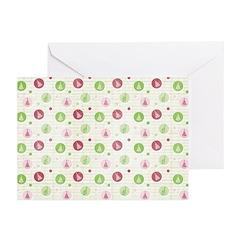 Yuletide Polka Trees Greeting Cards (Pk of 20)