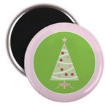 "Yuletide Polka Trees 2.25"" Magnet (10 pack)"