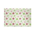 Yuletide Polka Trees Rectangle Magnet (10 pack)